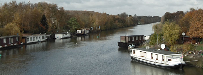 Houseboats on the Norfolk Broads