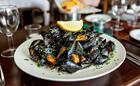 Fresh mussels at The Bucks Arms
