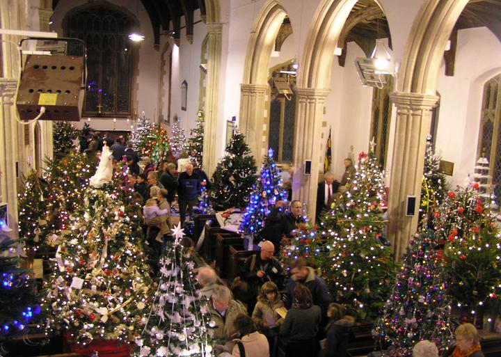 50 Christmas Trees in a Church - Dickleburgh