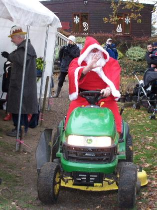 Meet Father Christmas and his reindeer at Fairhaven Garden