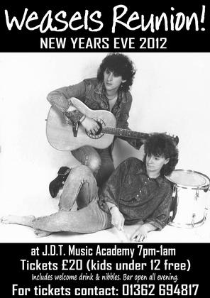 New Years Eve Weasels Reunion Gig!