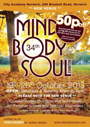 Mind, Body, Soul, Health Fair – 2day Event - 20th October 2013