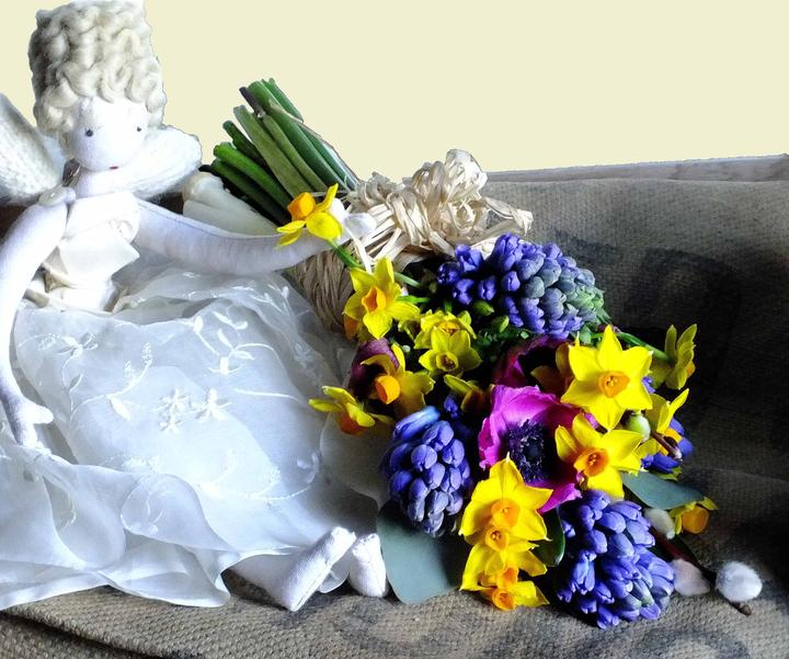Fabulous Flowers- Hand tied Spring Bouquet
