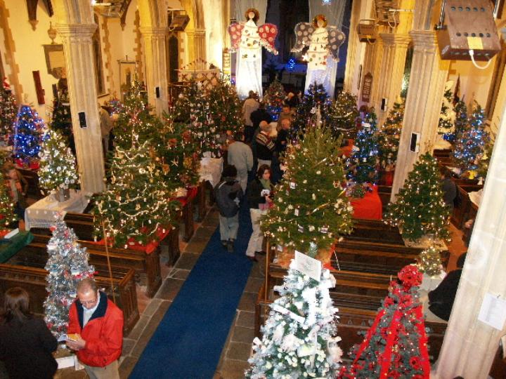 50 Christmas Trees in a Church Dickleburgh