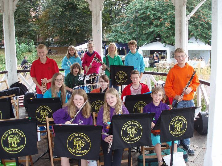 St Edmund's Youth Orchestra at Fairhaven Garden