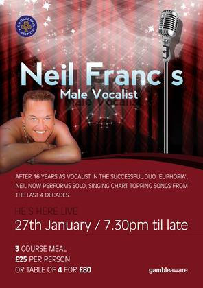 Live entertainment from Neil Francis