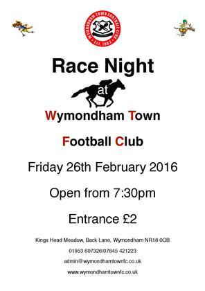 Race Night at Wymondham Town Football Club