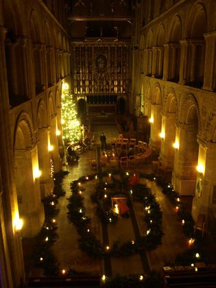 Wymondham Abbey Advent Spiral