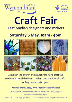 Craft Fair at Wymondham Abbey - Sat 6 May, 10am – 4pm