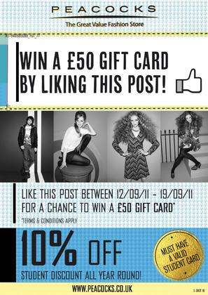 'Like' The Mall, Norwich Facebook page for your chance to win!!