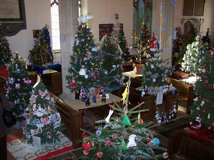 Dickleburgh – Fifty Christmas Trees in a Church Returns for Eighth Year