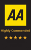 AA Highly Commanded Star Rating - 5 Star