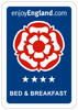 Enjoy England Bed & Breakfast Rating - 4 Star