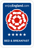 Enjoy England Bed & Breakfast Rating - 5 Star